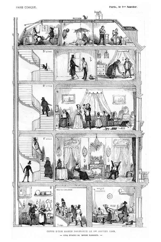 Bertall. Le Diable à Paris, 1845.
