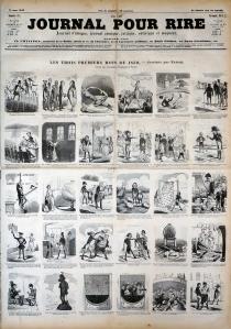 Nadar. Journal pour rire, 1850.