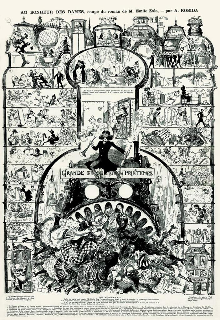 Albert Robida, La Caricature, 1883. Jean-Claude Viche / Association des amis d'Albert Robida