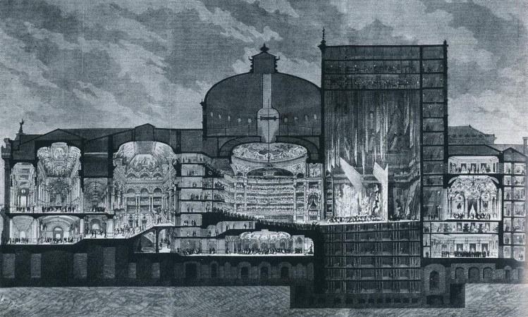 The new Paris Opera (Le Journal Illustré, 1875). Source: http://www.artlyriquefr.fr/dicos/Palais%20Garnier.html